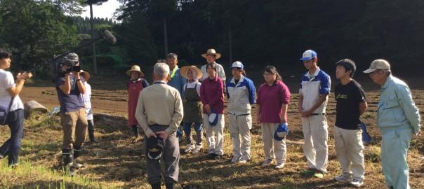 阿蘇中央高校と一緒にみさを大豆の種播きをしました❗️